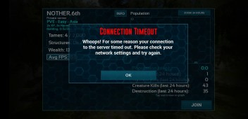 I can't connect to the game server got